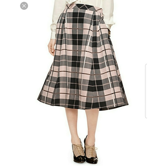 933e8a5cb kate spade Skirts | Woodland Plaid Midi Skirt | Poshmark